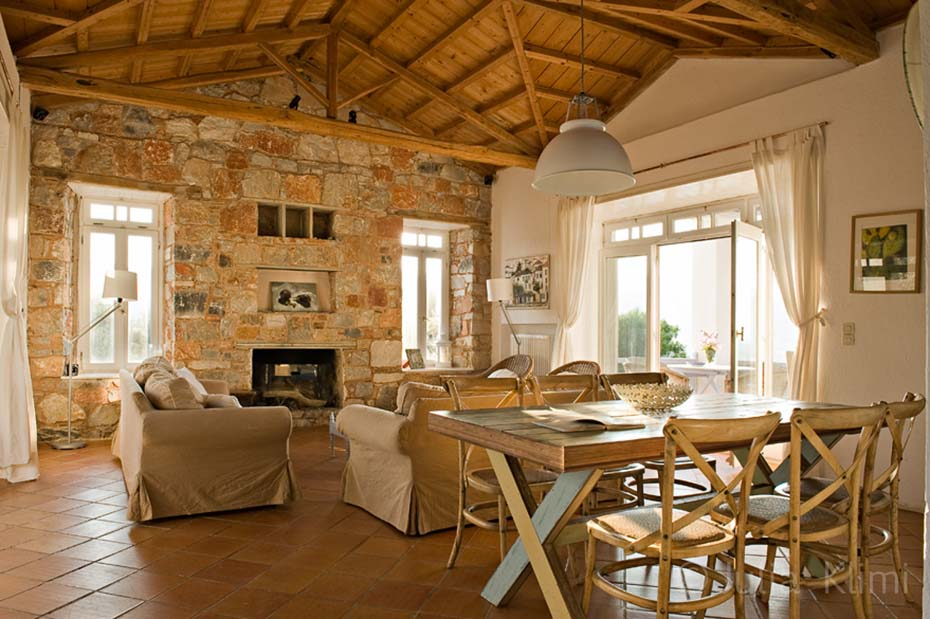 Country dining and living room