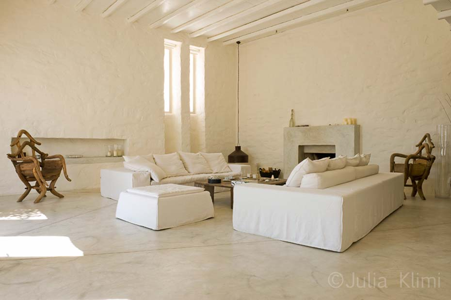 Total white living room