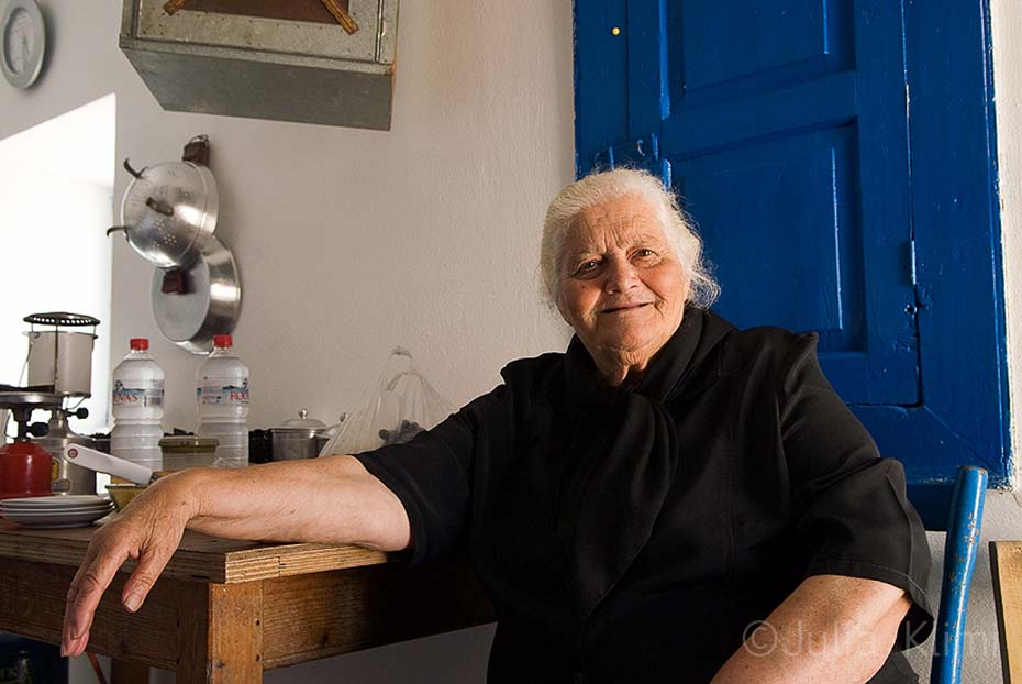 The hostess of the monastery of St. Mamas, Kassos island