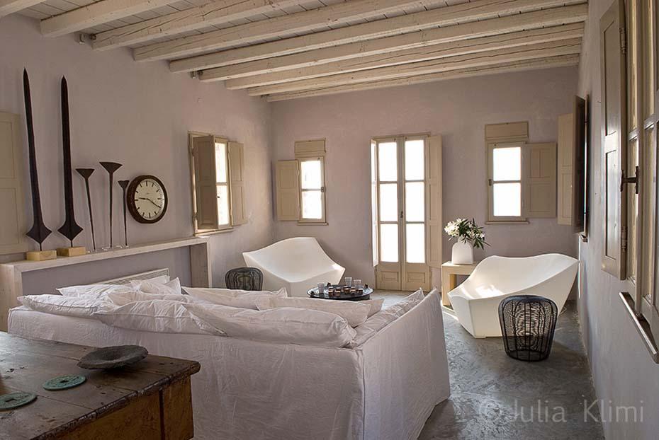 Modern greek style living