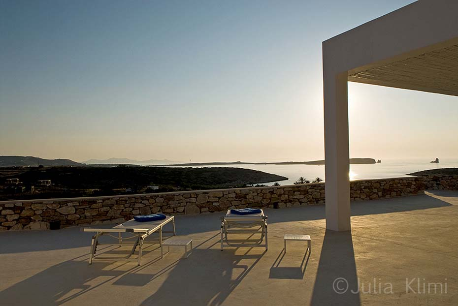 22DSC_5476 Modern terrace with loungers looking sea landscape