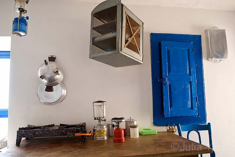 The kitchen of Aghios Mamas monastery, Kassos island, Dodecanese Greece