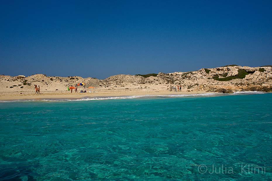 Karavostasi beach, Little island of Armathia. Kassos, Dodecanese, Greece