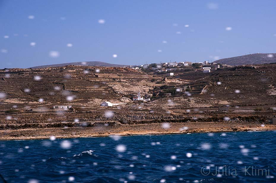 Agia Marina village from the sea. Kasos island