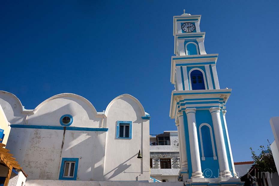 Agios Spyridon church, Bouka harbour Fry, Kasos island